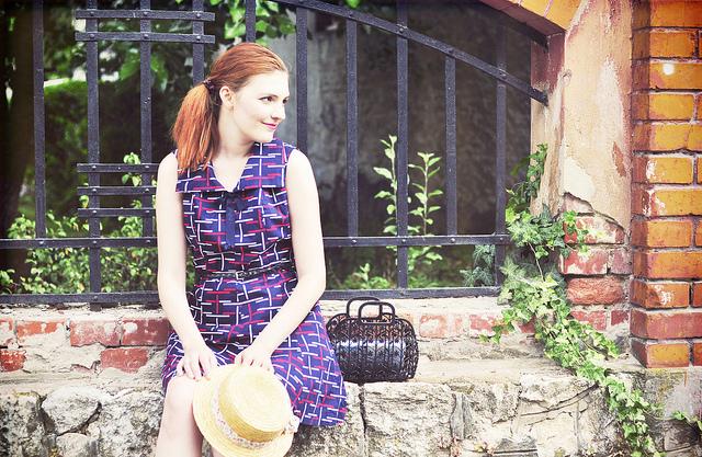 The retro printed dress