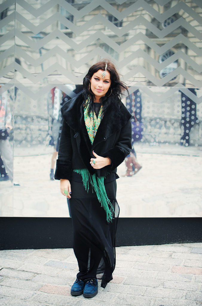 LFW Streetstyle – Zoe at Somerset House