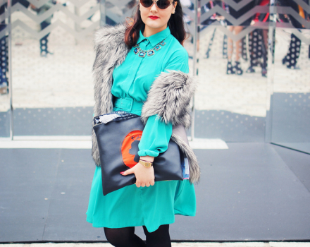 LFW Streetstyle – Heather at Somerset House