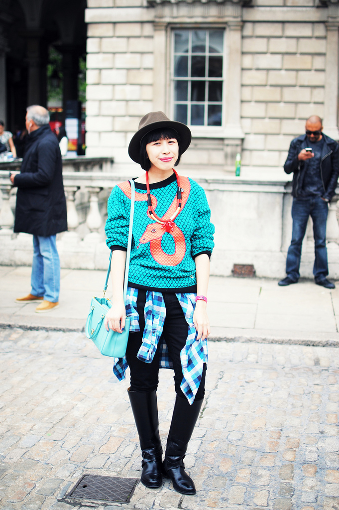 LFW Streetstyle – Kit at Somerset House