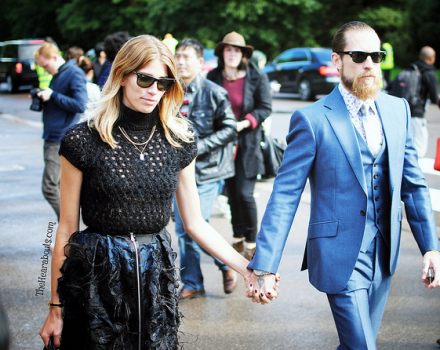 Streetstyle outside the Burberry S/S 2014 LFW Show –  Part 1