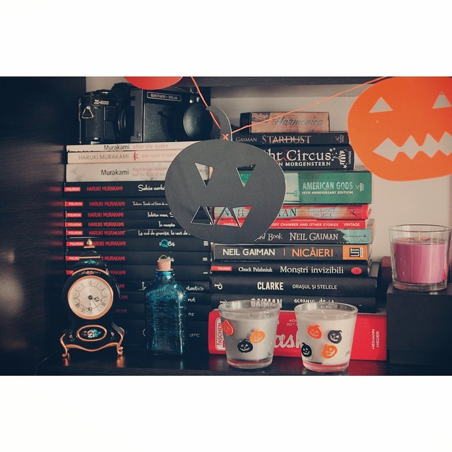 My dark corner is ready ?? #halloween #thisishallowern #halloweendecorations #dark #candles