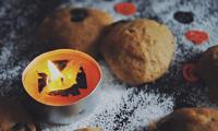 Soft pumpkin cookies for Halloween